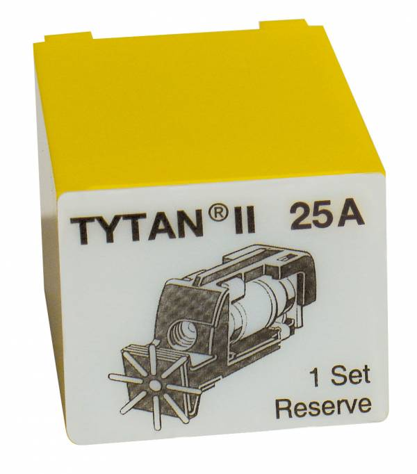 Fuse Plug for TYTAN II, 3 x 25A, D02, complete