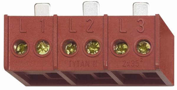 Double terminal 3 x 2 x 35mm for TYTAN II and Coron