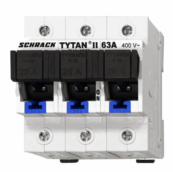 D02 - Loadbreak Disconnector TYTAN II, 3 pole, complete 20A