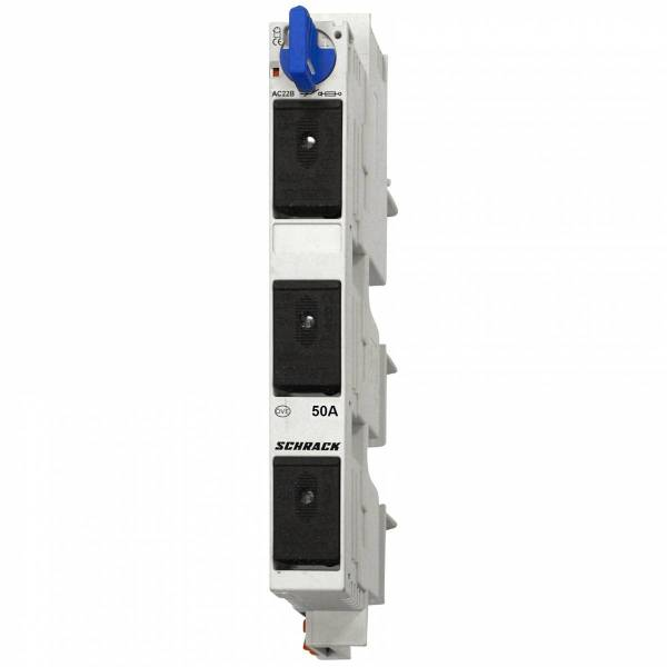 TYTAN R, D02, 3-pole for 60mm busbar-system, 50A complete
