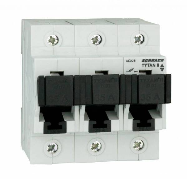 D02-Fuse switch disconnector, 3-poles, 35A fixed, complete