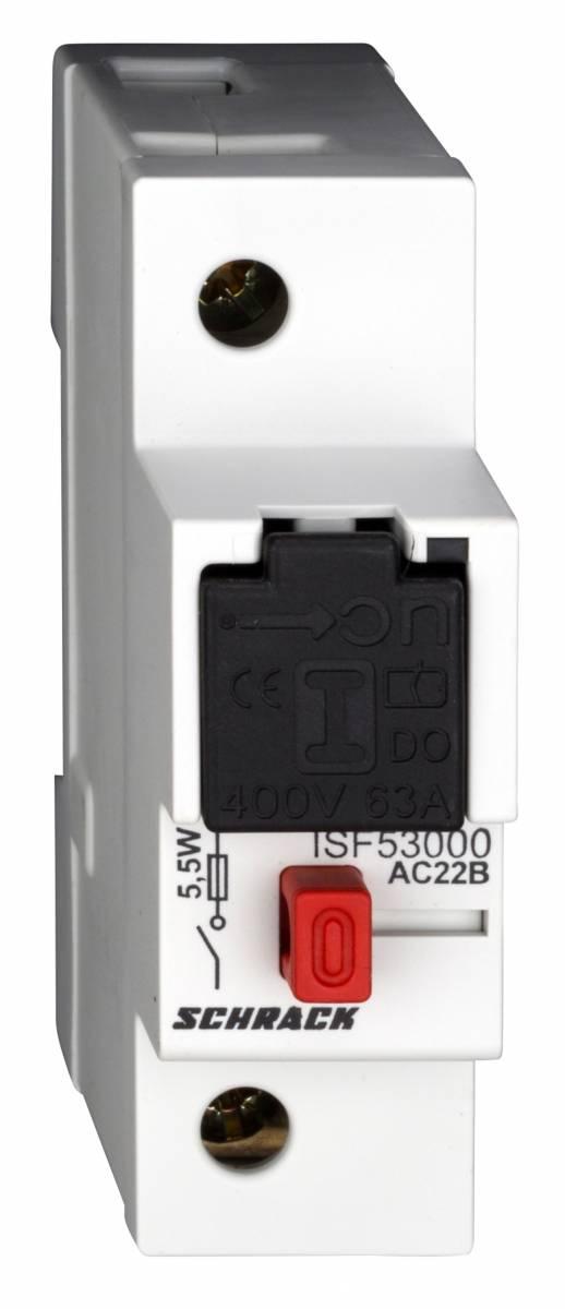 ARROW ON, D0-load fuse breaker 1-pole