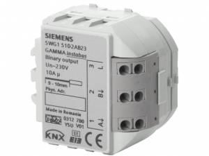 Binary output devices' 2 x 230 V AC' 10 A (resistive load)