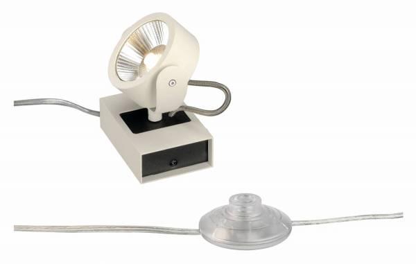 KALU LED 1 FLOOR Floor luminaire, white/black, 3000K, 24°