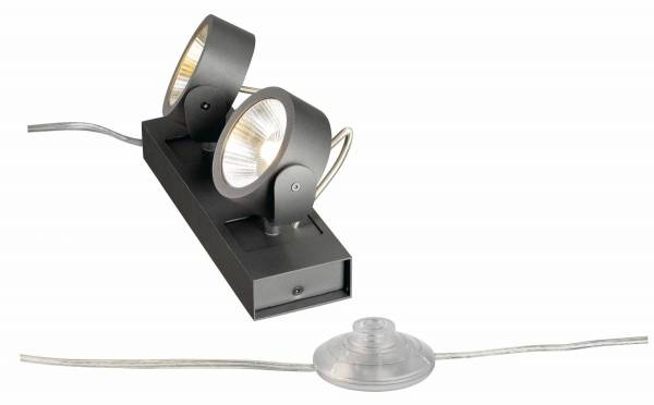 KALU LED 2 FLOOR Floor luminaire, black, 3000K, 60°