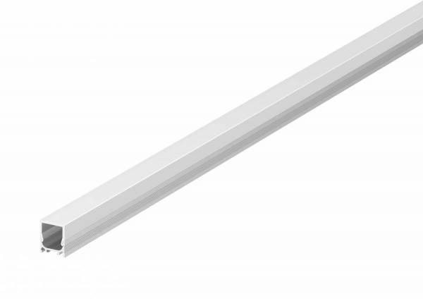 GRAZIA 10 LED Surface profile, flat, grooved, 2m, alu