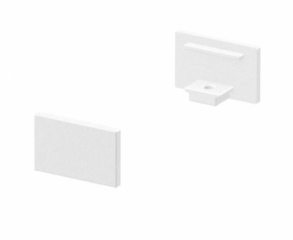 GRAZIA 10 Endcap, 2 pcs., flat Version, white