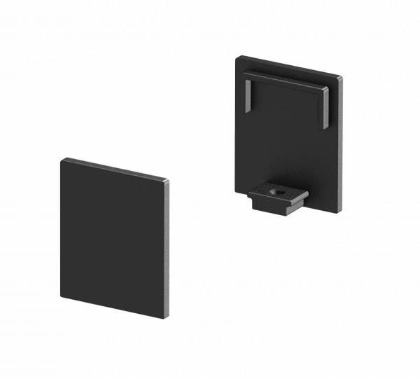 GRAZIA 10 Endcap, 2 pcs., high version, black