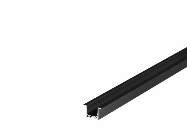 GRAZIA 20 LED Recessed profile, 1m, black