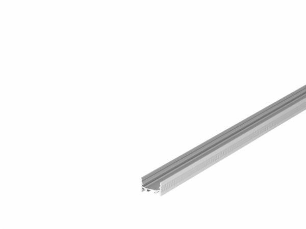 GRAZIA 20 LED Surface profile, flat, grooved, 3m, alu