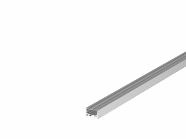 GRAZIA 20 LED Surface profile, flat, smooth, 3m, alu