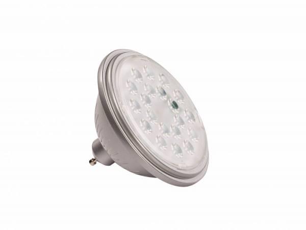 VALETO LED QPAR111, GU10 Bulb, 25°, silvergrey, 830lm