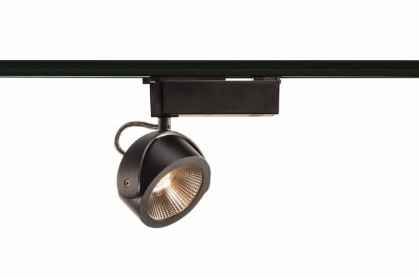 KALU LED Spot, 3000K, black, 24°, incl. 1 Phase adapter