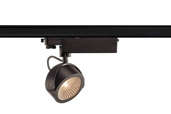 KALU LED Spot, 3000K, black, 60°, incl. 3 Phase adapter