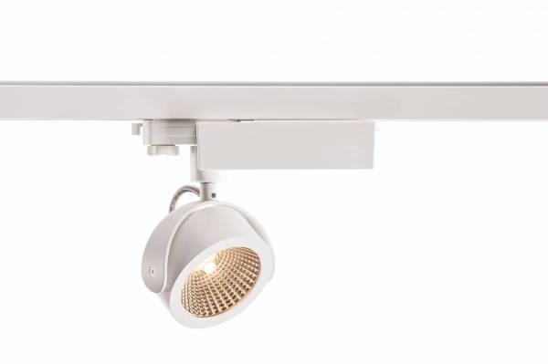 KALU LED Spot, 3000K, white/black, 60°, incl. 3Phase adapter