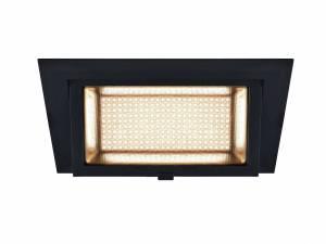 ALAMEA LED Recessed ceiling luminaire, black, 3000K, 35W