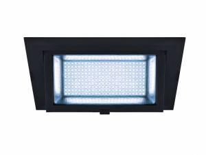 ALAMEA LED Recessed ceiling luminaire, black, 4000K, 45W