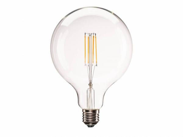 E27 LED G125 Bulb, 330°, 2700K, 806lm, dimmable