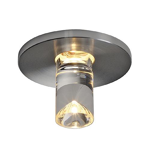 LED LIGHTPOINT, round, alu brushed, 1W LED, 3000K