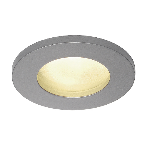 DOLIX OUT GU10 ROUND Downlight, silver-gray, max. 50W