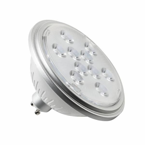 LED lamp, QPAR111, GU10, 7W, 3000K 13° silver