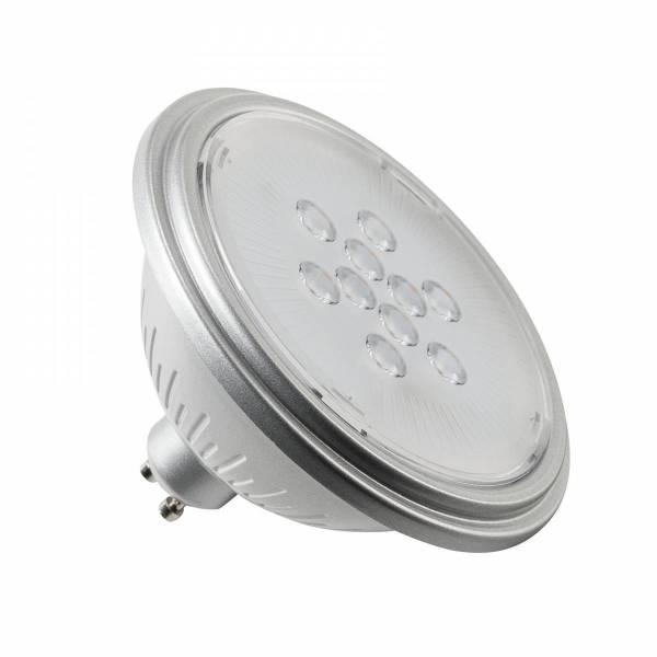 LED lamp, QPAR111, GU10, 7W, 3000K 25° silver