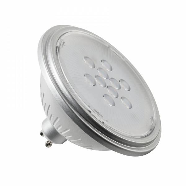 LED lamp, QPAR111, GU10, 7W, 3000K 40° silver