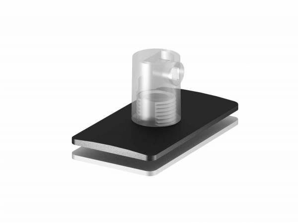H-PROFILE strain relief/pendant feed-in, black