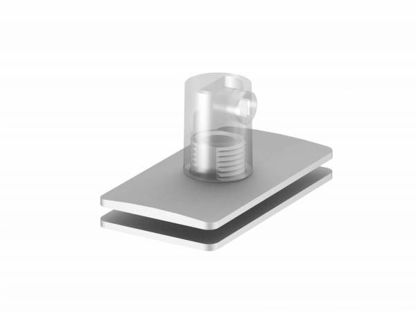 H-PROFILE strain relief/pendant feed-in, silver