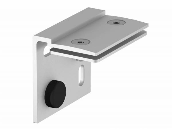 H-PROFILE wall holder, silver