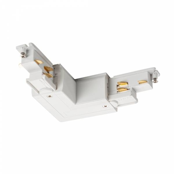S-TRACK DALI L-connector external earth electrode, white