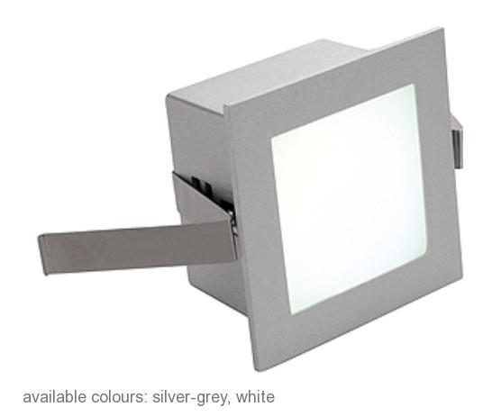 FRAME BASIC LED, 1W, neutralwhite, angular, silvergrey