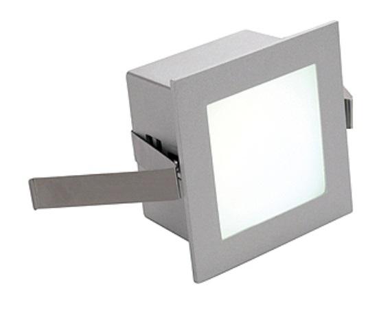 FRAME BASIC LED, 1W, 350mA, warmwhite, angular, silvergrey