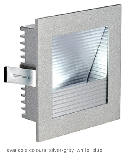 FRAME CURVE LED, 1W, neutralwhite, square, silvergrey