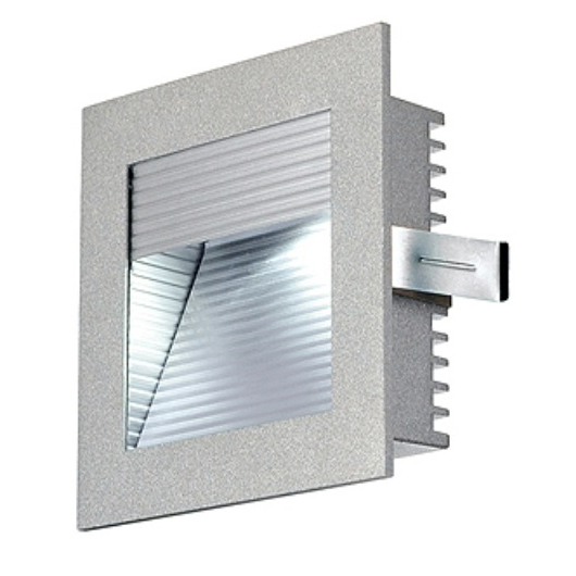 FRAME CURVE LED, 1W,350mA, warmwhite, square, silvergrey