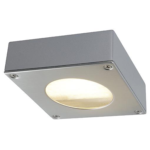 QUADRA 44 downlight, GX53, 9W, IP44, aluminium, grey