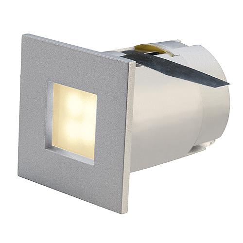 MINI FRAME LED, 0,3W, 3000K, angular, silvergrey