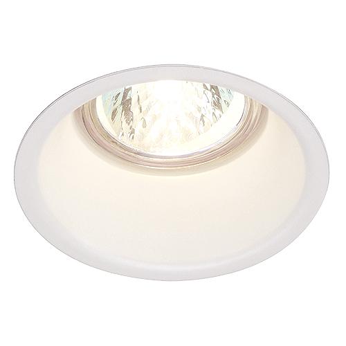 HORN downlight GU10, max. 50W, steel, round, white