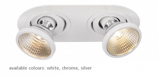 Twister CMH downlight GU6,5, max. 35W, alu/steel, chrome
