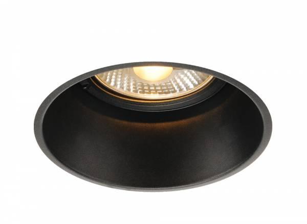 HORN-T recessed fitting, QPAR111, matt black, GU10, max.50W
