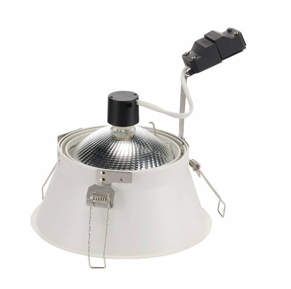 HORN-T recessed fitting, QPAR111, matt white, GU10, max.50W