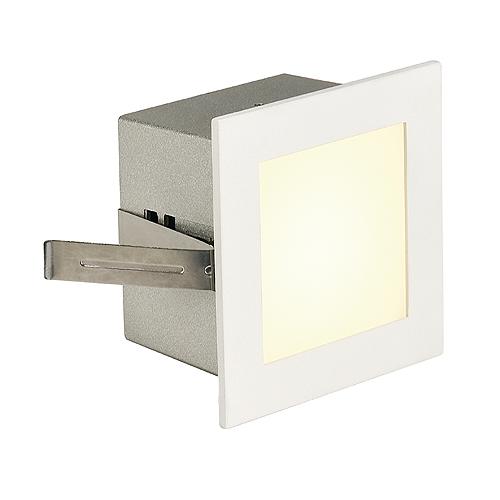FRAME BASIC LED, 1W, 3000K, 90lm, angular, alu/glass, white