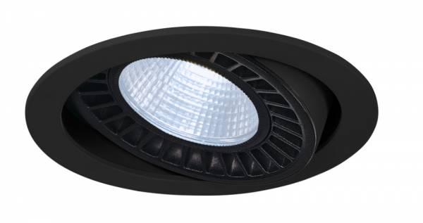 SUPROS DL recessed ceiling light,round,black,3000lm,4000K