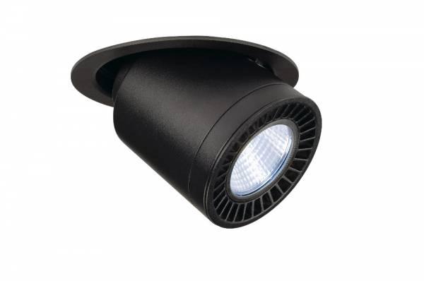 SUPROS MOVE recessed ceiling light,round,black,3000lm,4000K