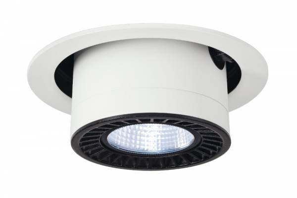 SUPROS MOVE recessed ceiling light,round,white,3000lm,4000K