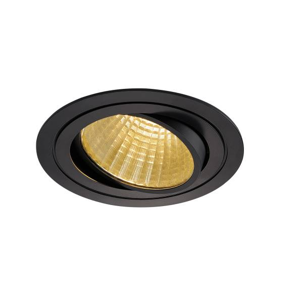 NEW TRIA LED DL ROUND Set, 25W, 2700K, 30°, matt black