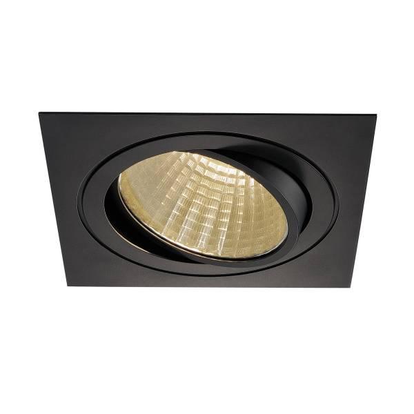 NEW TRIA LED DL SQUARE Set, 25W, 3000K, 30°, matt black
