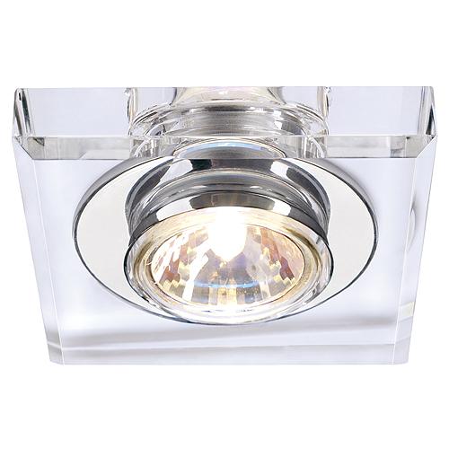 CRYSTAL I downlight, MR16, max. 35W, angular, chrome/cristal