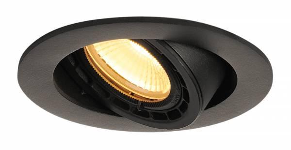 SUPROS 78 DL recessed ceiling light round,black,3000K