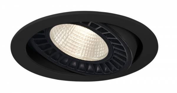 SUPROS DL recessed ceiling light,round,black,4000lm,3000K